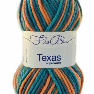 Fir de tricotat sau crosetat - Fire din lana 100% Filo Blu - Texas - 04