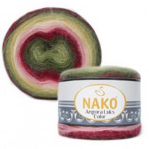 Fir de tricotat sau crosetat - Fire tip mohair acril NAKO ANGORA LUKS COLOR 81909
