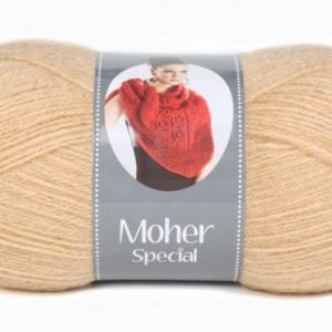 Fir de tricotat sau crosetat - Fire tip mohair acril NAKO MOHER SPECIAL BEJ 219