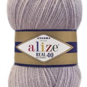 Fir de tricotat sau crosetat - Fire tip mohair din acril Alize Angora Real 40 Lila 365