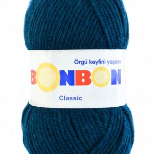 Fir de tricotat sau crosetat - Fire tip mohair din acril BONBON CLASIC ALBASTRU 98400