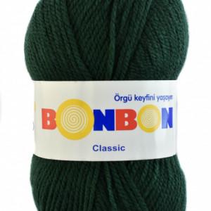Fir de tricotat sau crosetat - Fire tip mohair din acril BONBON CLASIC VERDE 98321