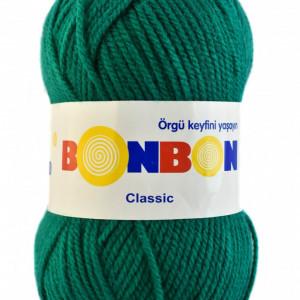Fir de tricotat sau crosetat - Fire tip mohair din acril BONBON CLASIC VERDE 98325