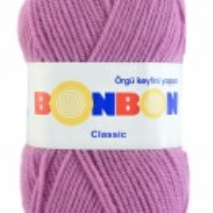 Fir de tricotat sau crosetat - Fire tip mohair din acril BONBON CLASIC LILA 98234