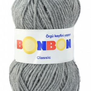 Fir de tricotat sau crosetat - Fire tip mohair din acril BONBON CLASIC GRI 98233