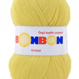 Fir de tricotat sau crosetat - Fire tip mohair din acril BONBON KRISTAL Galben 98210