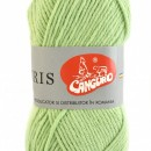 Fir de tricotat sau crosetat - Fire tip mohair din acril CANGURO - TRIS VERDE 395