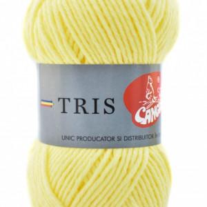 Fir de tricotat sau crosetat - Fire tip mohair din acril CANGURO - TRIS GALBEN 311