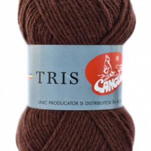 Fir de tricotat sau crosetat - Fire tip mohair din acril CANGURO - TRIS MARO 329