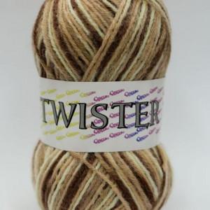 Fir de tricotat sau crosetat - Fire tip mohair din acril CANGURO - TWISTER IMPRIMAT DEGRADE 378