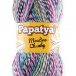 Fir de tricotat sau crosetat - Fire tip mohair din acril Kamgarn Papatya Mouline Chunky Degrade 5374