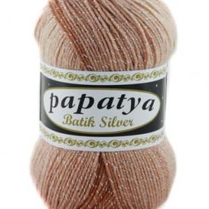 Fir de tricotat sau crosetat - Fire tip mohair din acril Kamgarn Papatya Silver Batik degrade 02