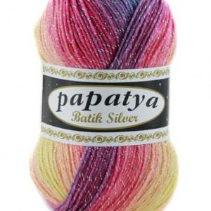 Fir de tricotat sau crosetat - Fire tip mohair din acril Kamgarn Papatya Silver Batik degrade 11