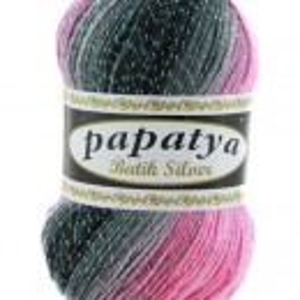 Fir de tricotat sau crosetat - Fire tip mohair din acril Kamgarn Papatya Silver Batik degrade 21