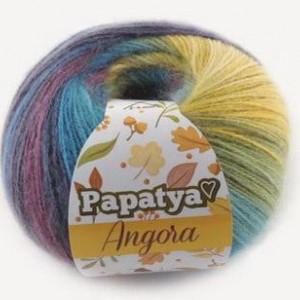 Fir de tricotat sau crosetat - Fire tip mohair din acril Kamgarn Papatya Angora degrade 62