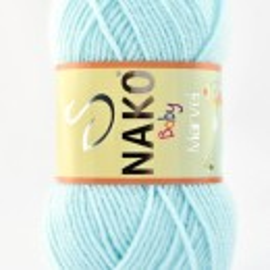 Fir de tricotat sau crosetat - Fire tip mohair din acril Nako Baby MARVEL ALBASTRU 23072