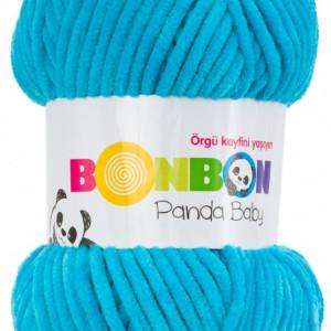 Fir de tricotat sau crosetat - Fire tip mohair din acril NAKO BONBON PANDA BABY BLEO 3124