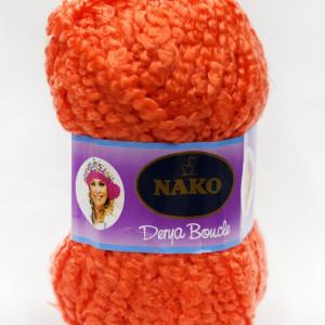 Fir de tricotat sau crosetat - Fire tip mohair din acril NAKO DERYA BOUCLE portocaliu 6189