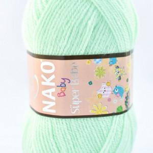 Fir de tricotat sau crosetat - Fire tip mohair din acril Nako SUPER BEBE VERNIL 2587
