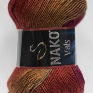 Fir de tricotat sau crosetat - Fire tip mohair din acril premium Nako VALS DEGRADE 86384