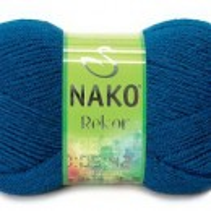 Fir de tricotat sau crosetat - Fire tip mohair din acril premium Nako REKOR  ALBASTRU 517