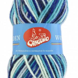 Fir de tricotat sau crosetat - Fire tip mohair din acril si lana GOLDEN WOOL IMPRIMAT - 388