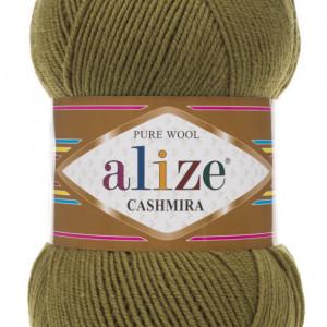 Fir de tricotat sau crosetat - Fire tip mohair din lana 100%, Alize CASHMIRA KAKI 233