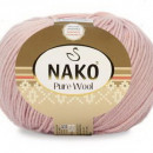 Fir de tricotat sau crosetat - Fire tip mohair din lana 100% Nako PURE WOOL ROZ 10722