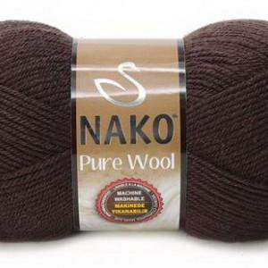 Fir de tricotat sau crosetat - Fire tip mohair din lana 100% Nako PURE WOOL MARO 282