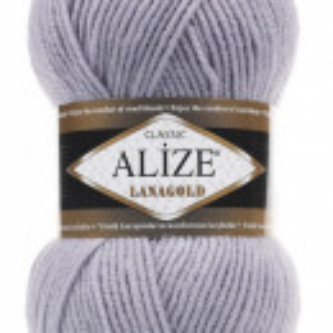 Fir de tricotat sau crosetat - Fire tip mohair din lana 49% si acril 51% Alize Lanagold Gri 200