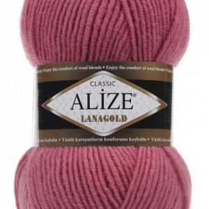 Fir de tricotat sau crosetat - Fire tip mohair din lana 49% si acril 51% Alize Lanagold ROZ 359