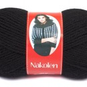 Fir de tricotat sau crosetat - Fire tip mohair din lana 50% si acril 50% Nakolen NEGRU 217