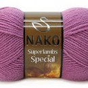 Fir de tricotat sau crosetat - Fire tip mohair din lana 50% si acril 50% Nako Superlambs Special MOV 1048