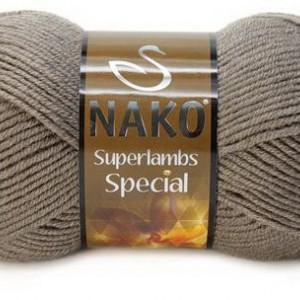 Fir de tricotat sau crosetat - Fire tip mohair din lana 50% si acril 50% Nako Superlambs Special bej 5225