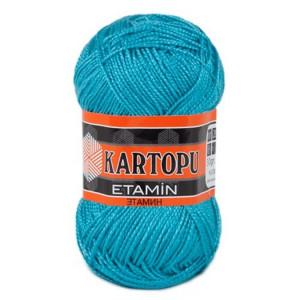 Fir de tricotat,brodat sau crosetat - Fir KARTOPU ETAMIN ALBASTRU 515