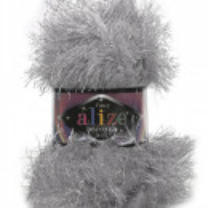 Fir de tricotat sau crosetat - FANCY - ALIZE DECOFUR SIM - ARGINTIU ADS - 21