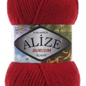 Fir de tricotat sau crosetat - Fir ACRILIC ALIZE BURCUM KLASIK ROSU 106