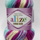 Fir de tricotat sau crosetat - Fir ALIZE COTTON GOLD BATIK - DEGRADE 6519