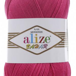 Fir de tricotat sau crosetat - Fir BUMBAC 100% ALIZE BAHAR FUCSIA 149