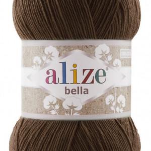 Fir de tricotat sau crosetat - Fir BUMBAC 100% ALIZE BELLA 100 - MARO 222