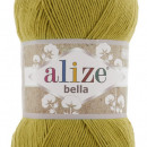 Fir de tricotat sau crosetat - Fir BUMBAC 100% ALIZE BELLA 100 - MUSTAR 593