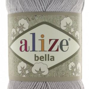 Fir de tricotat sau crosetat - Fir BUMBAC 100% ALIZE BELLA - GRI 21