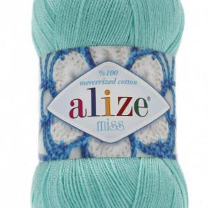 Fir de tricotat sau crosetat - Fir BUMBAC 100% ALIZE MISS ALBASTRU 15