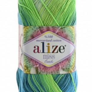 Fir de tricotat sau crosetat - Fir BUMBAC 100% ALIZE MISS BATIK DEGRADE 3724