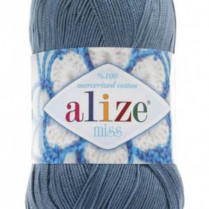 Fir de tricotat sau crosetat - Fir BUMBAC 100% ALIZE MISS BLEO-GRI 498
