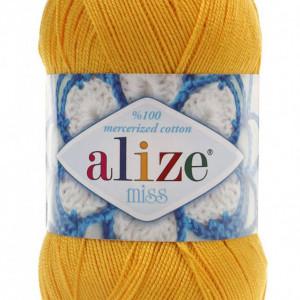 Fir de tricotat sau crosetat - Fir BUMBAC 100% ALIZE MISS GALBEN 216
