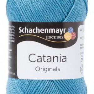 Fir de tricotat sau crosetat - Fir BUMBAC 100% MERCERIZAT CATANIA KACHELBLAU 380