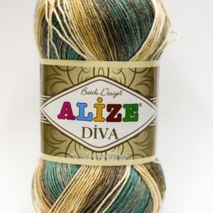 Fir de tricotat sau crosetat - Fir microfibra ALIZE DIVA BATIK DEGRADE 3307