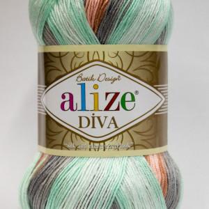 Fir de tricotat sau crosetat - Fir microfibra ALIZE DIVA BATIK DEGRADE 5550