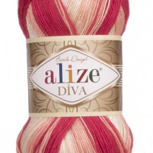 Fir de tricotat sau crosetat - Fir microfibra ALIZE DIVA BATIK DEGRADE 7106